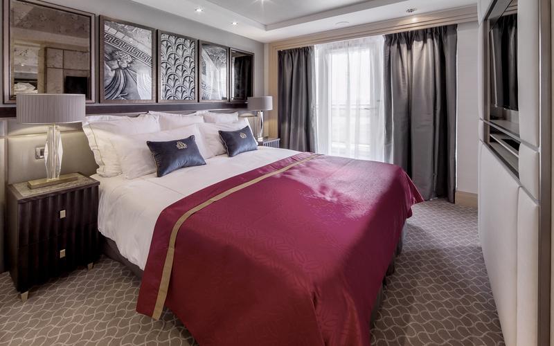Die richtige Kabine zu finden, kann schwer sein - mit einer Suite wie hier zu sehen machen sie aber nicht viel falsch