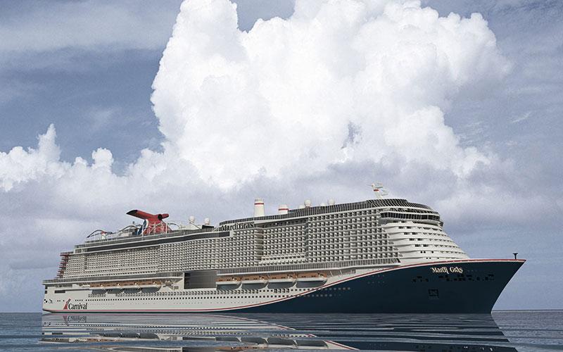Die Mardi Gras, Carnival Cruise Lines neuester Zuwachs läuft ebenfalls mit LNG-Antrieb