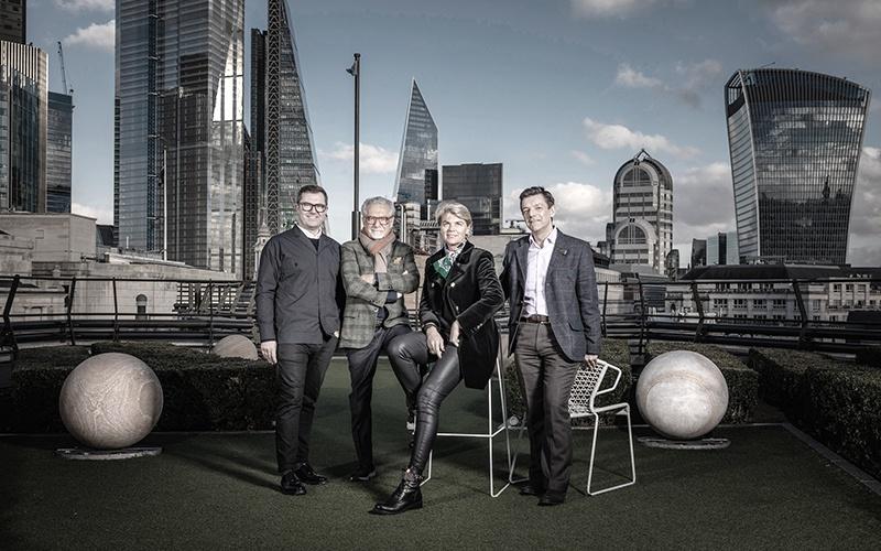 Die vier Designer des neuesten Cunard Flaggschiffs