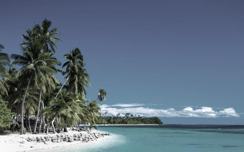 Karibik Insel mit weißem Traumstrand