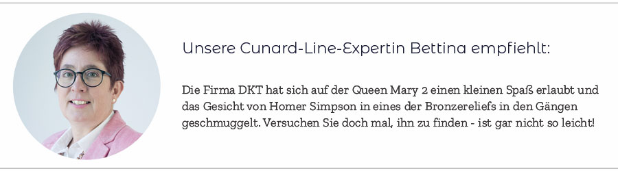 Kunst und Cunard Expertin Bettina