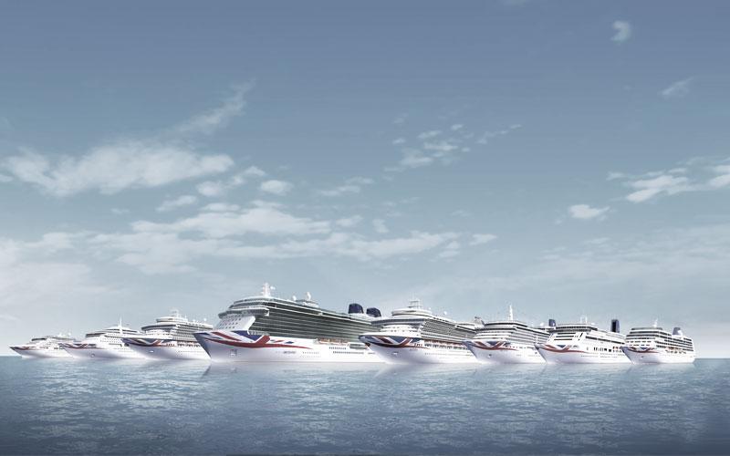 Die P&O Schiffe verbreiten britischen Flair an Bord und außerhalb