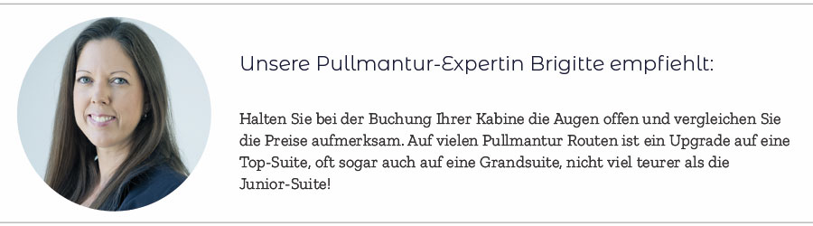 The Waves ist das optimale Premium Programm. Hier zu sehen: Pullmantur Expertin Brigitte
