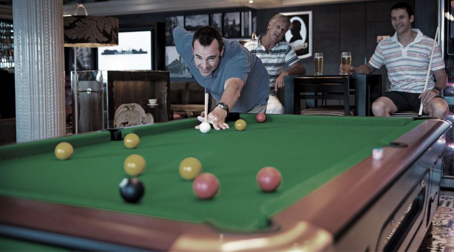 Zum britischen Sport gehört auch eine Runde Snooker im Pub