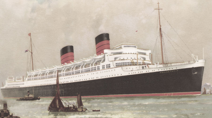 Die RMS Mauretania der Cunard Line