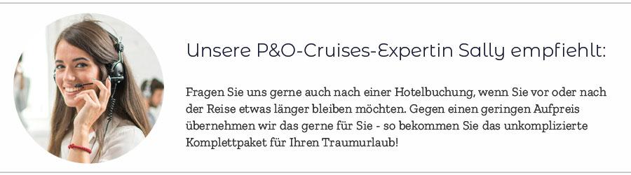 P&O Cruises Expertin Sally
