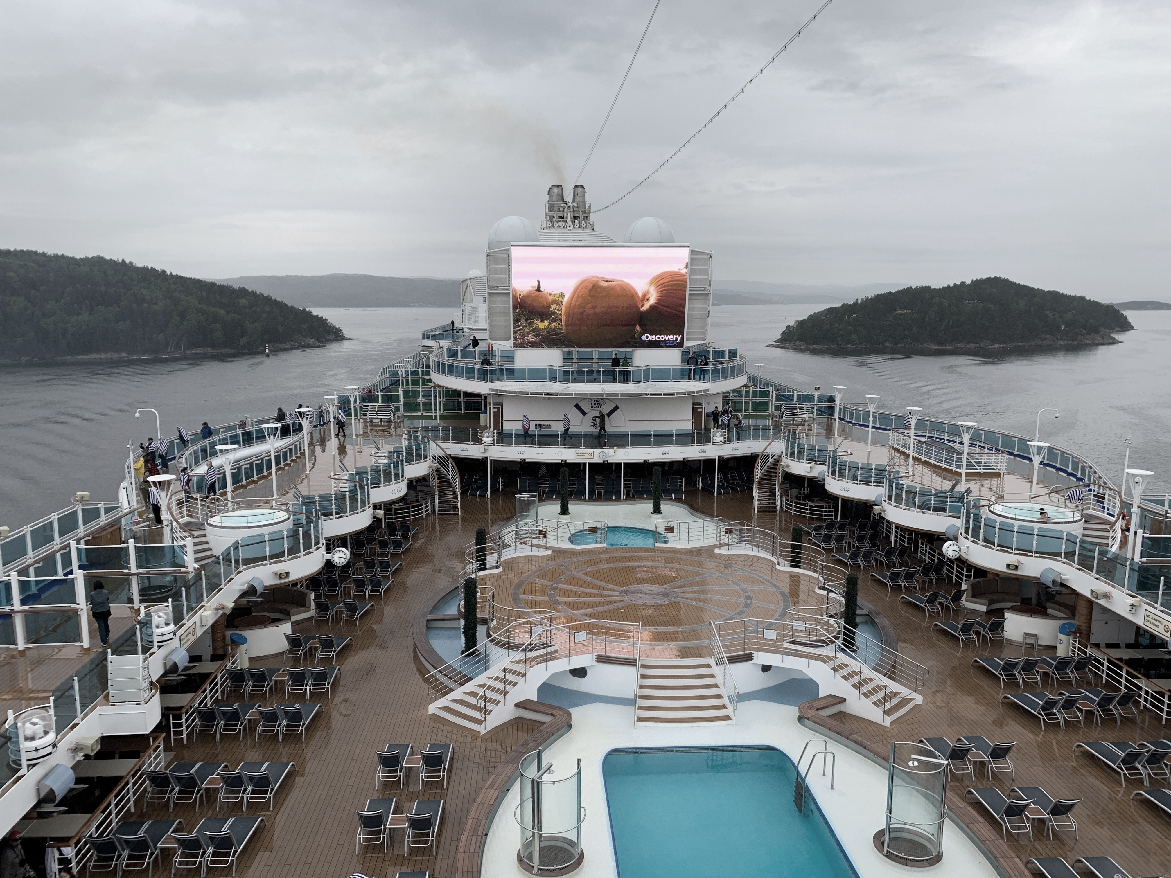 Die Regal Princess durchquert den Oslo-Fjord